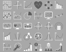 Stock Illustration of Dotted Charts Icons