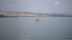 Sport Boat On Blue Water Stock Footage