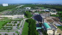 Aerial video of Florida International university 3 Stock Footage