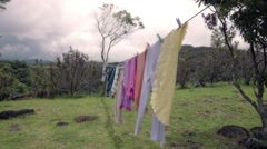 Hanging clothes Stock Footage