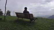 Stock Video Footage of Woman enjoying alpine view