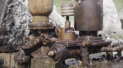 Pipes pumping water Stock Footage