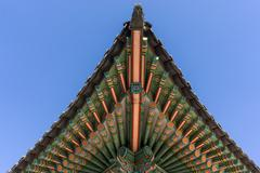 Changdeokgung Architecture ceiling - stock photo