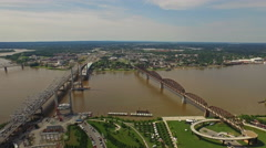 Aerial Kentucky Louisville - stock footage