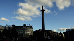 Stock Video Footage of Trafalgar Square Timelapse. Charing Cross. London