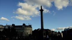 Trafalgar Square Timelapse. Charing Cross. London - stock footage