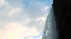 Epic natural waterfalls, panoramic movement Stock Footage
