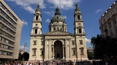 St. Stephen's Basilica in Budapest. 4K. Stock Footage