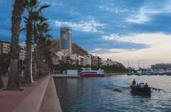 Port of Alicante, Spain - stock photo