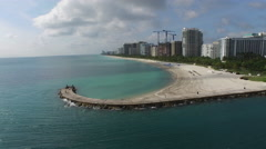 Bal Harbor, Harbour House, Haulover Inlet Aerials Stock Footage