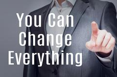 You Can Change Everything Stock Illustration