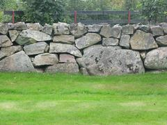 Traditional drystone fence Stock Photos
