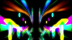 Psychedelic symmetric pattern Stock Footage