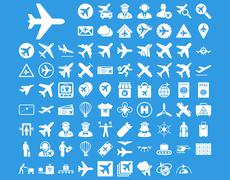 Aviation Icon Set Stock Illustration