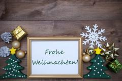 Frame With Decoration, Frohe Weihnachten Mean Merry Christmas Kuvituskuvat