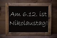 Chalkboard With Nikolaustag Means Nicholas Day - stock photo