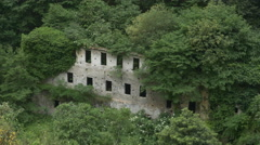 Abandoned factory in valley. Amalfi Coast, Italy. Stock Footage