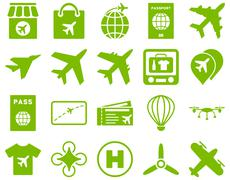 Stock Illustration of Airport Icon Set