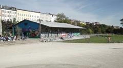 Gorlitzer Park, Kreuzberg, Berlin Stock Footage