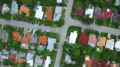 Miami Beach homes aerial video 4 Stock Footage