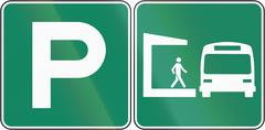 Parking Place For Train Station in Canada Piirros