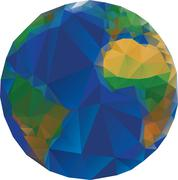 Low Poly World Globe Stock Illustration