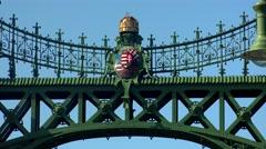 Stock Video Footage of Coat of Budapest. Emblem. 4K.