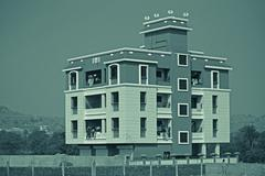 Stock Photo of Apartment Building, India