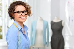 Positive designer expressing positivity - stock photo