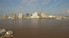 Aerial Mississippi New Orleans - stock footage