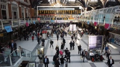 Stock Video Footage of Liverpool St station in London