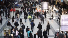 Stock Video Footage of Liverpool street is one of the busiest stations in London