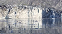 Tidewater glacier Johns Hopkins glacier calving in Glacier Bay National Park, - stock footage