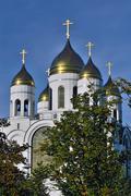 Cathedral of Christ the Savior. Kaliningrad, Russia Stock Photos