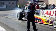 Dragster Burnout Stock Footage