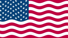 4k United states of America flag waving seamless loop Stock Footage
