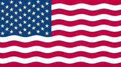 4k United states of America flag waving seamless loop Stock Footage