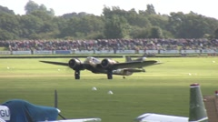 Bristol Blenheim Bomber taxiing for take off Stock Footage