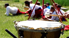 Cossack drums Stock Footage