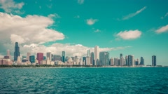 Chicago Skyline Time Lapse with Lake Michigan - stock footage