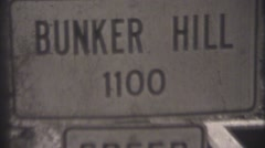 Bunker Hill Tornado 1948, establishing sign Stock Footage