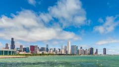 Chicago Downtown City Time Lapse with Lake Michigan - stock footage