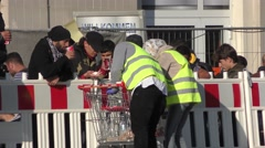 Refugees in Passau, Germany Stock Footage