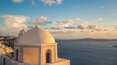 Small church on Santorini Island, Greece Stock Footage