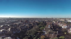 London city buildings and houses Stock Footage