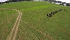 Aerial Civil War Reenactment Confederate Cavalry Arkistovideo