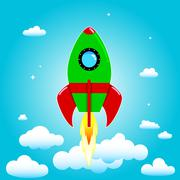 Launch rocket - stock illustration