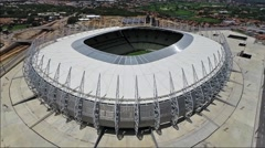 Aerial view of Estadio Castelao soccer stadium in Fortaleza, Brazil. Stock Footage