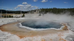 Geothermal activity at Yellowstone National Park, Wyoming, USA Stock Footage