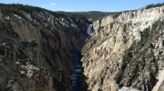 Yellowstone Falls at Yellowstone National Park, Wyoming, USA Stock Footage